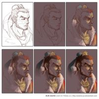 Sun Quan-Painting Step by prema-ja
