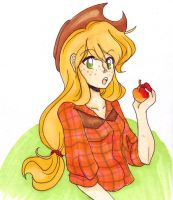 my lovely applejack by Psychomiez