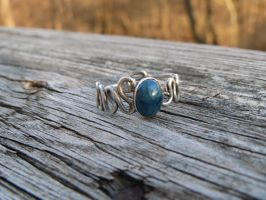 Apatite Zig zag ring by whippetgirl