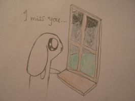 Bunny misses you by XsquirrelXhaterX