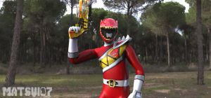 The Fanged Brave : Kyoryu Red by Matsui07