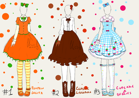 [CLOSED Adoptables] Lolita Outfits by LiloLilosa