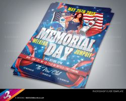 Memorial Day Party Flyer Template by AnotherBcreation