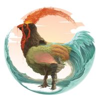 Elemental Rooster by ArK-Seraph