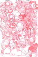 Street Fighter sketchies by D-Gee