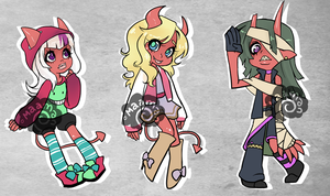 Auction- Oni Rascals Set 1 [CLOSED] by maamarwen