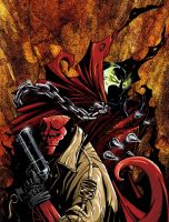 hellboy and spawn by ah-tan