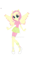 Fluttershy new look by caza1245