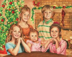 Kid's Christmas Portrait by Adolin-of-Light