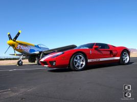 GT And A P-51 by Swanee3