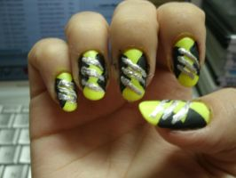 Wolverinde inspired nail art by kirarachan