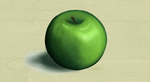 Digital Painting - Green Apple  study n1 by ThePonika