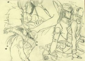 Fate x Anette sketches by Diablicka