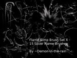 Flame-Glow Gimp Brushes-Set X by Demon-in-the-rain