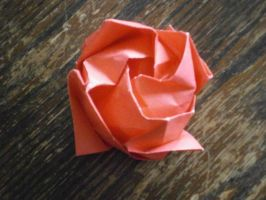 origami rose by Fembot13