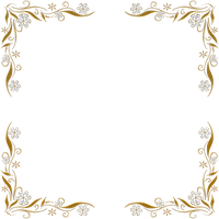 Golden Floral Corners Frame 2 by Paw-Prints-Designs