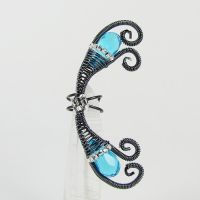 Aqua Fairy Ear Cuff by Gailavira