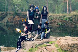 Homestuck Group Cosplay - Beta Trolls by NameLessChemist