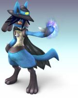 Sir Lucario by Wolfgerlion