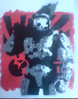 Masterchief on Canvas by Dufte