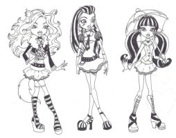 Monster High Trio by DanikaMorningStar