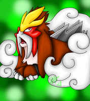 Entei finished by ivygaara