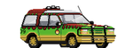 jurassic park 8bit ford explorer by chicagocubsfan24
