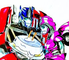 .:H-Gift/PC. Laurelin and Optimus by Micelux