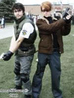 Chris Redfield + Leon Kennedy by Sk8ergirl-16