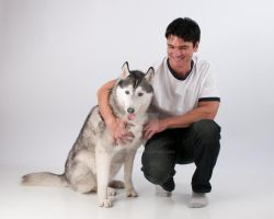 Jason Aaron Baca with Sieberian Husky by jasonaaronbaca