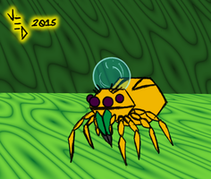 Water Hat Jumping Spider by LittleGreenGamer
