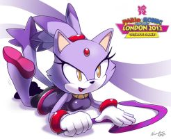 Cats love to play with ribbons by nancher