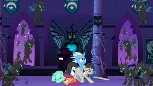 Changelings taking over the New Luna Republic Base by Radiant--Eclipse