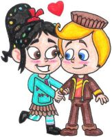 Vanellope and Rancis in Love by nintendomaximus