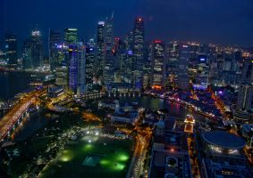 Singapore at Night by Mo-01