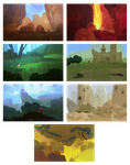 environment doodles by the-muddy