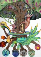 Yggdrasil - Tree of Life by magicianfoolmoon