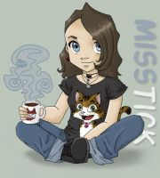 Cat and Coffee by MissTick