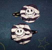 Jack Skellington hair clips by GothicDorothy