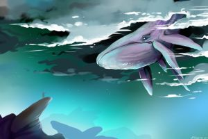 Sky Whale by SurgeonWolf