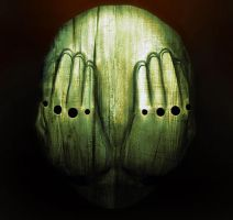 cult wooden mask by tramvaev