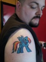 Rainbow Dash Tattoo by darthhorus