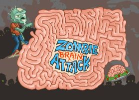 Zombie Brain Attack Maze by DerekHunter