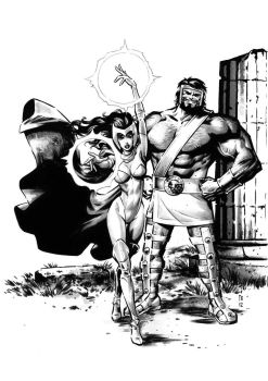 Herc and ScarletWitch by superfre