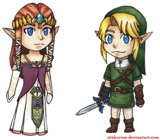 The Legend of Zelda Chibis by OtakuRose