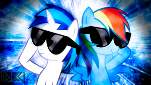 Dash and Scratch Wallpaper by TygerxL