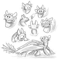 Toofless Sketches by secoh2000