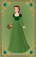 Belle green dress by SingerofIceandFire