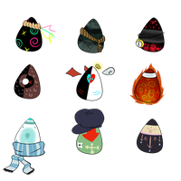 Theme egg adopts: Psychosis and Diseases by Demoqhobia