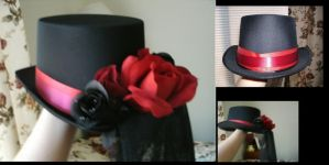 Rose Top Hat by Innocent-malice